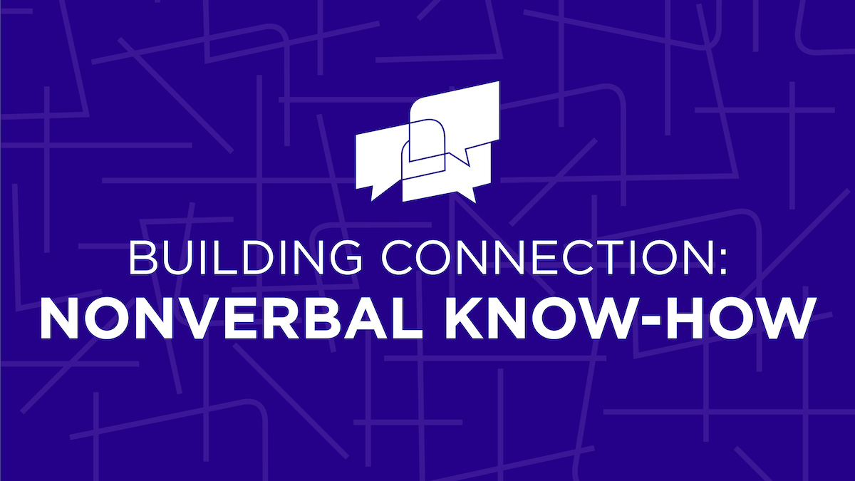 Building Connection: NonVerbal Know-How graphic